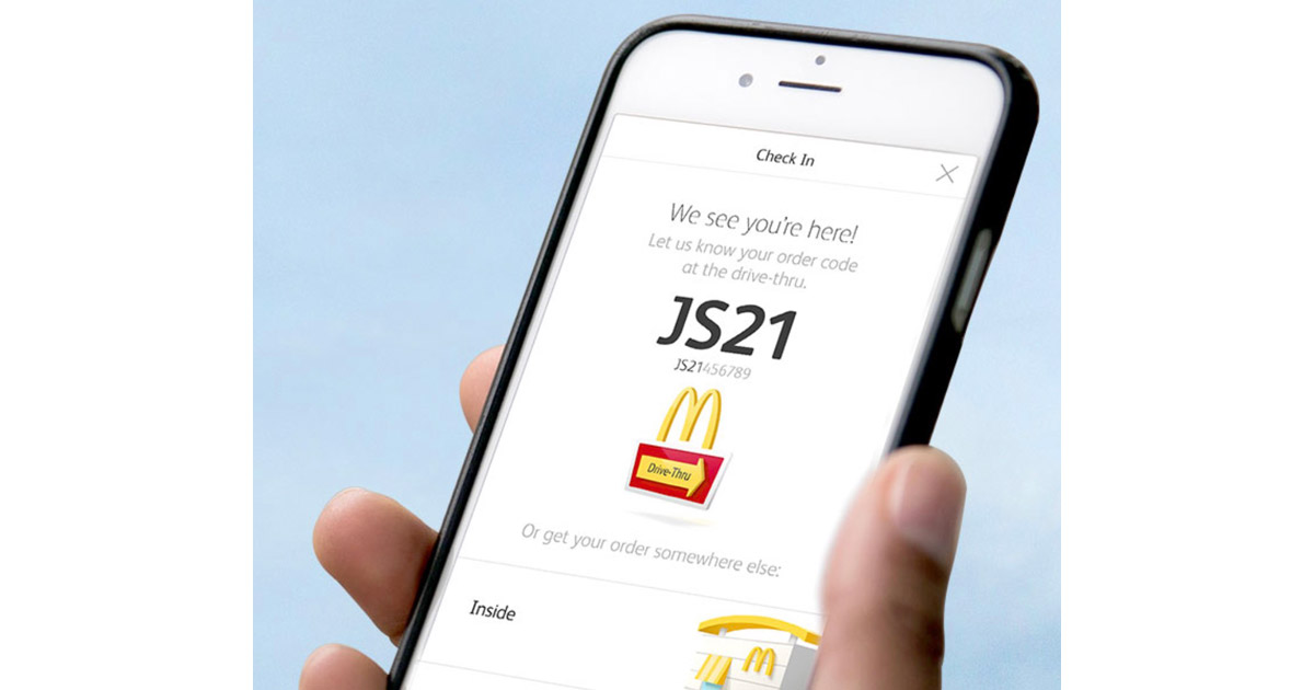 McDonald's Mobile Ordering on iPhone