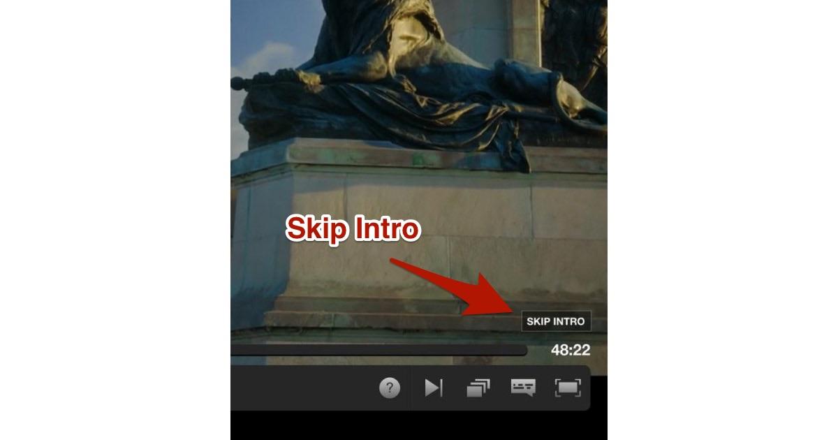 The Netflix Skip Intro button