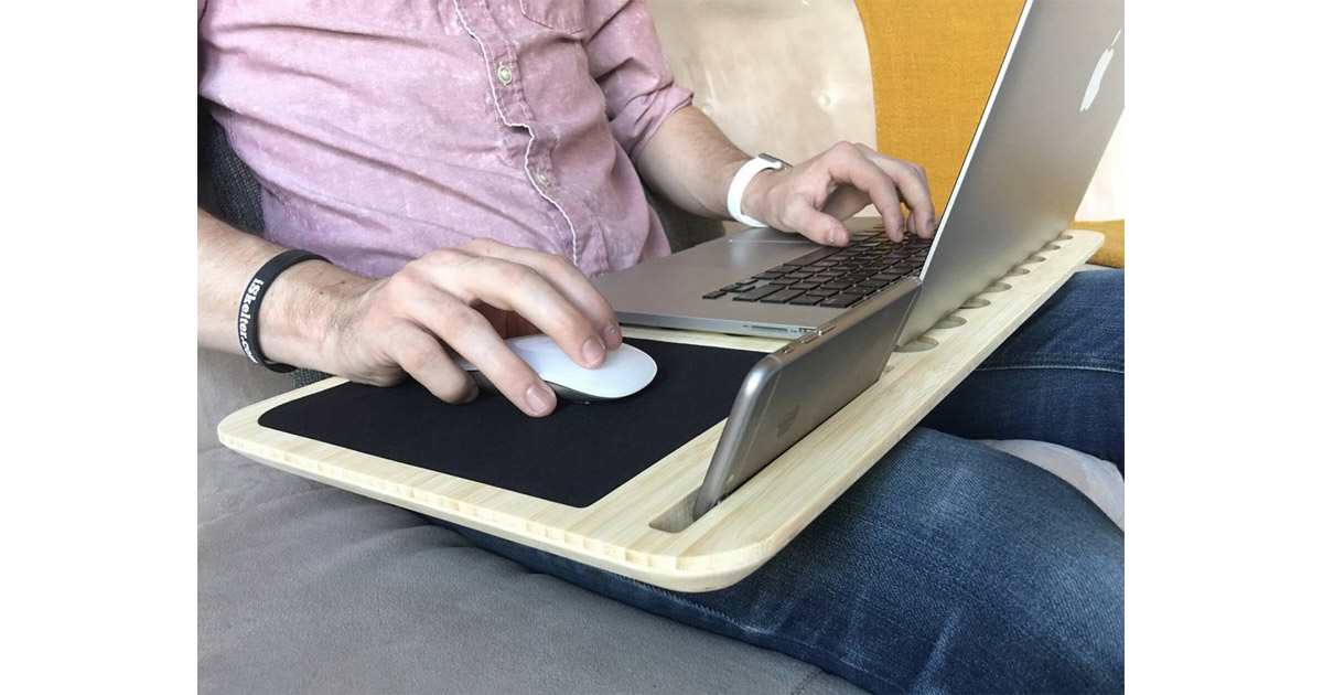 A Ventilated Lapdesk Designed for Apple MacBooks