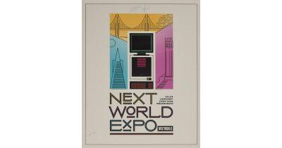 Steve Jobs Autographed NeXTWORLD Poster