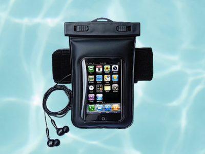 Waterproof Smartphone Bag With Music Out Jack + Waterproof Headphones