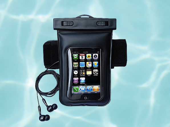 Waterproof Smartphone Bag With Music Out Jack + Waterproof Headphones