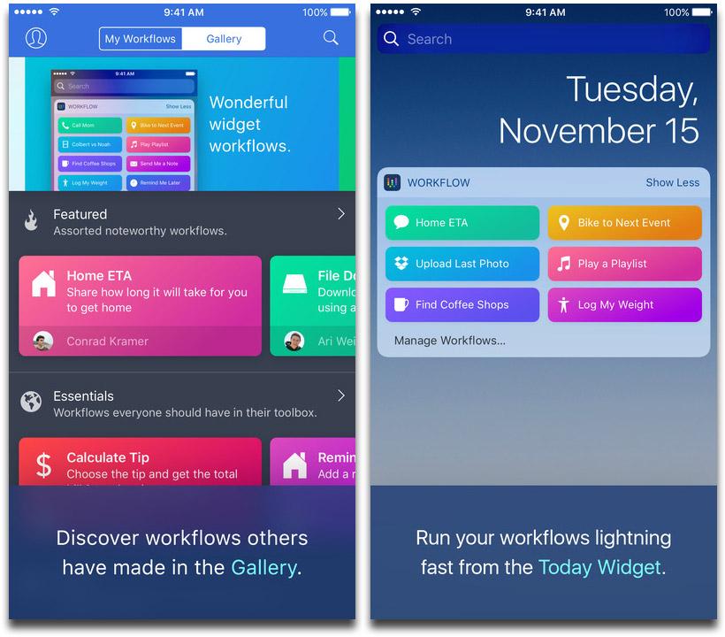 Workflow Screenshots