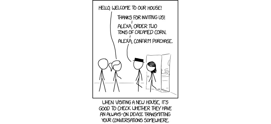 XKCD's Snarky Look at Home Surveillance Virtual Assistants