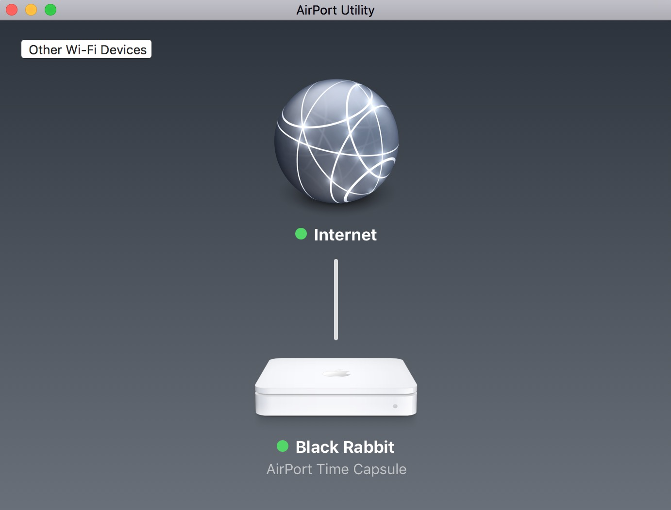 Use the AirPort Utility app on your Mac to see your AirPort Basestation and its settings