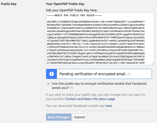 Enabling Public Key to Make Facebook the New Web of Trust - Step 4