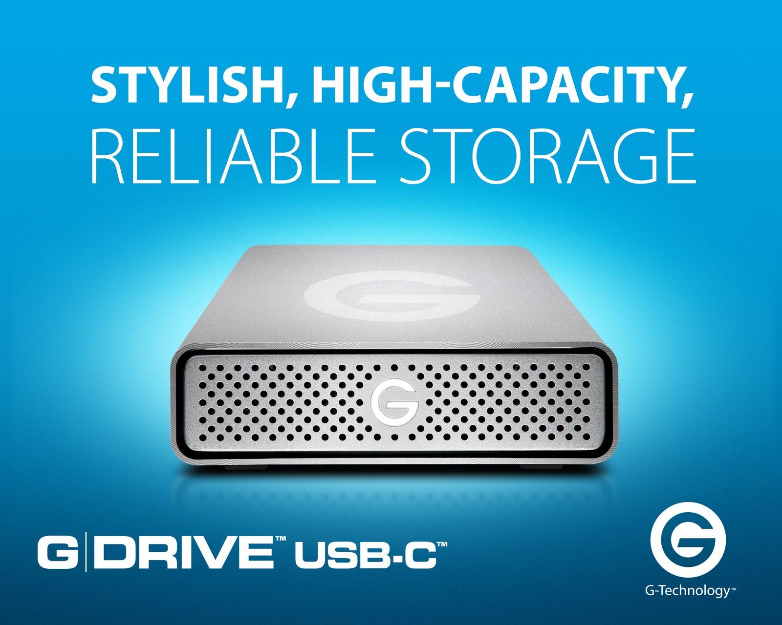 New USB-C G-DRIVE