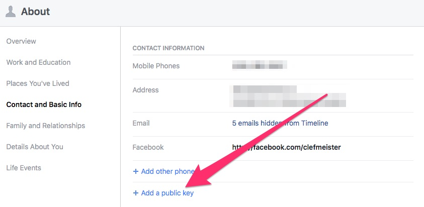 Enabling Public Key to Make Facebook the New Web of Trust - Step 7