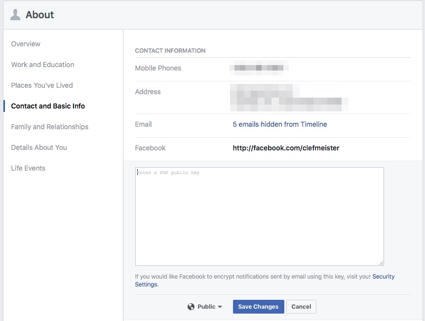 Enabling Public Key to Make Facebook the New Web of Trust - Step 8