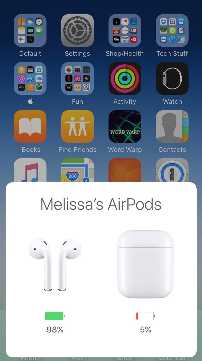 8 ways to see the charge level of your airpods the mac observer airpods pop up charging indicator on iphone biocorpaavc Images