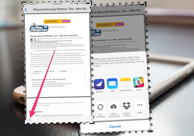 Print to PDF from any app in iOS