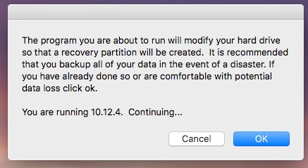 Recovery Partition Creator step 2