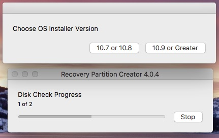 how to create a recovery partition mac