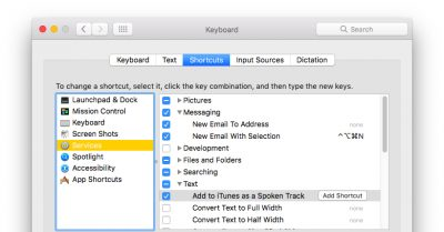 Free and Useful Services can be found in the Keyboard System Preferences pane.