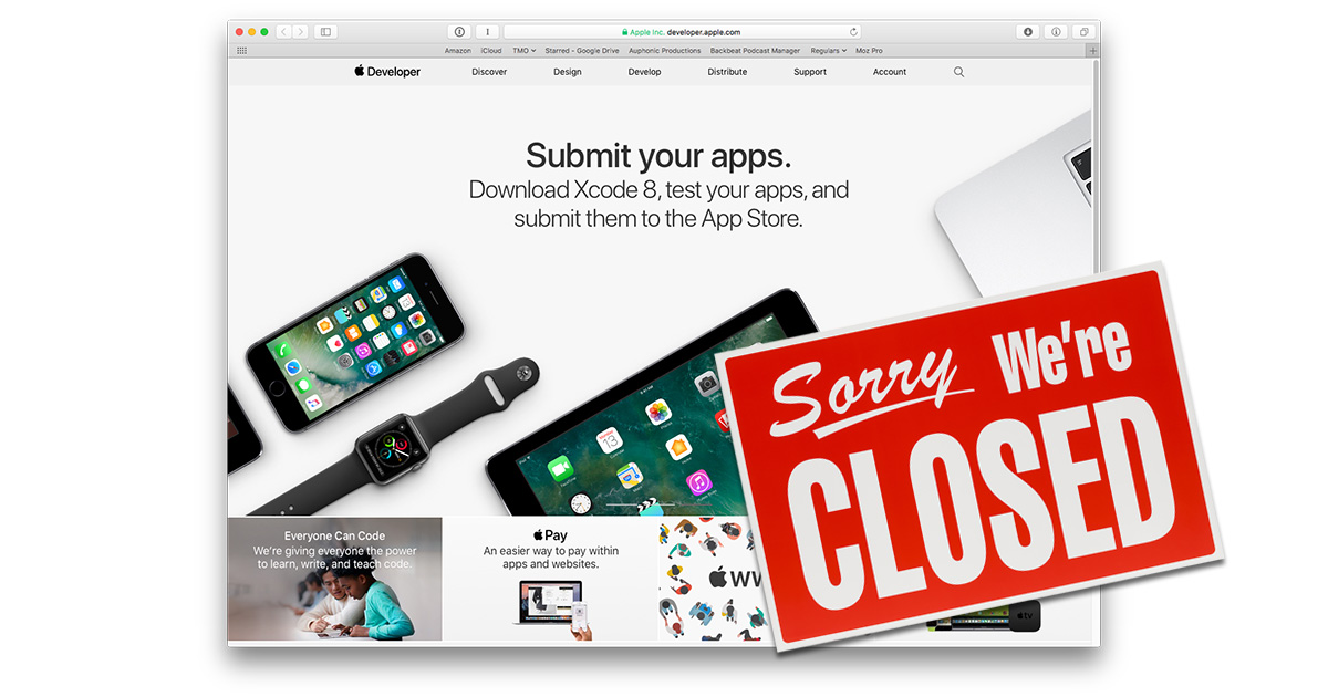 iTunes Connect will be down for developers on April 22, 2017