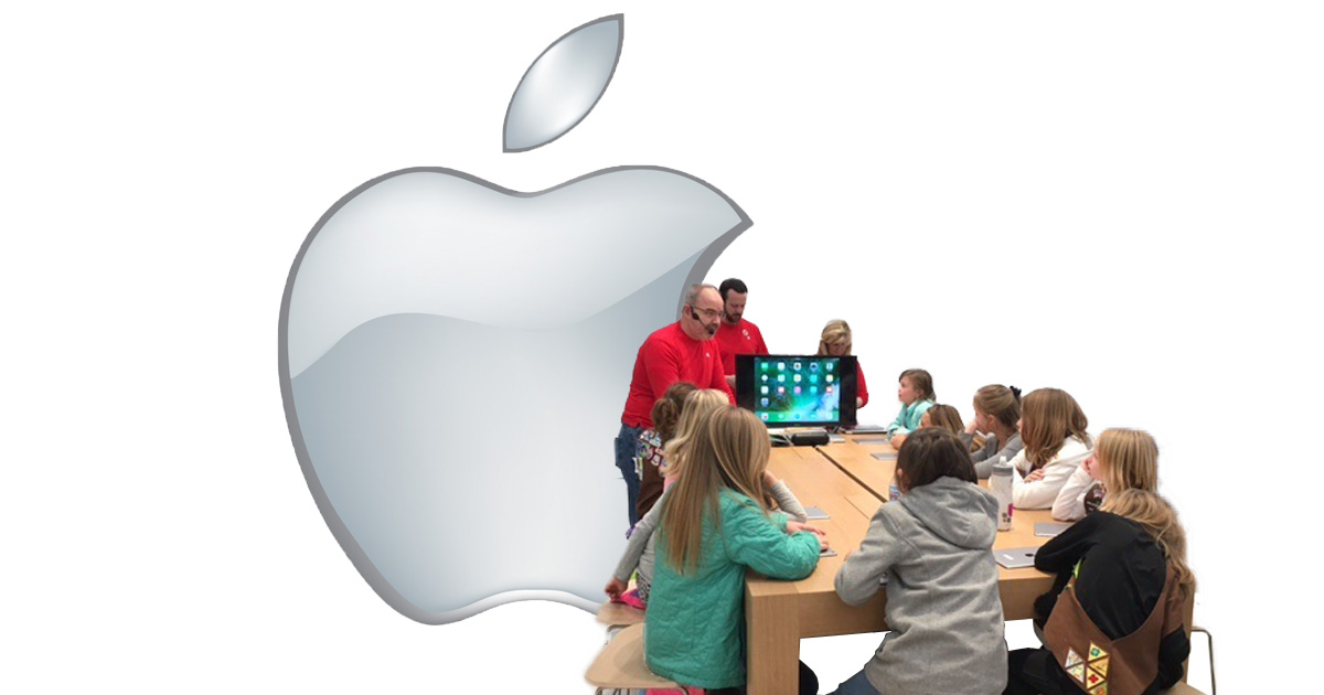 Apple Stores using Today in Apple program to draw in the community