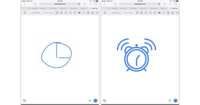 AutoDraw turns ugly scrawls into line art