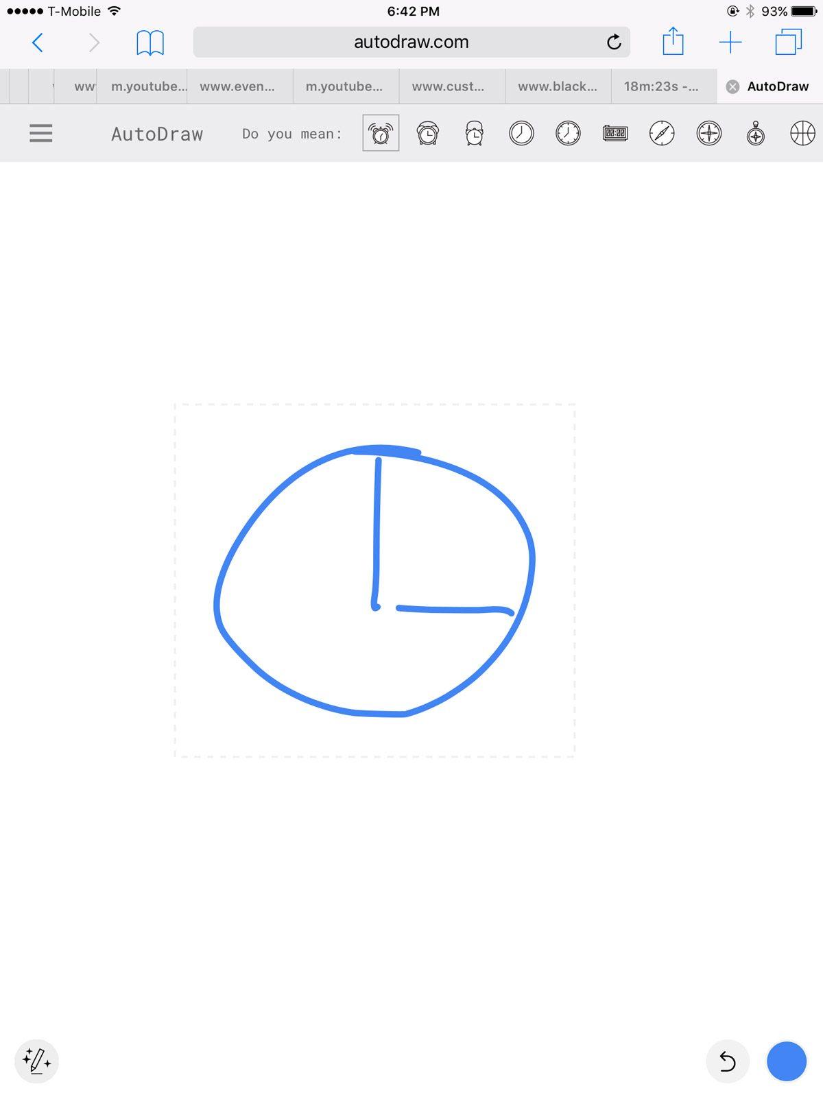 Ugly Scrawl of a Clock