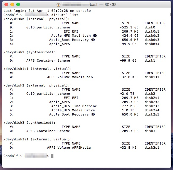 APFS container scheme in diskutil - delete your APFS partition