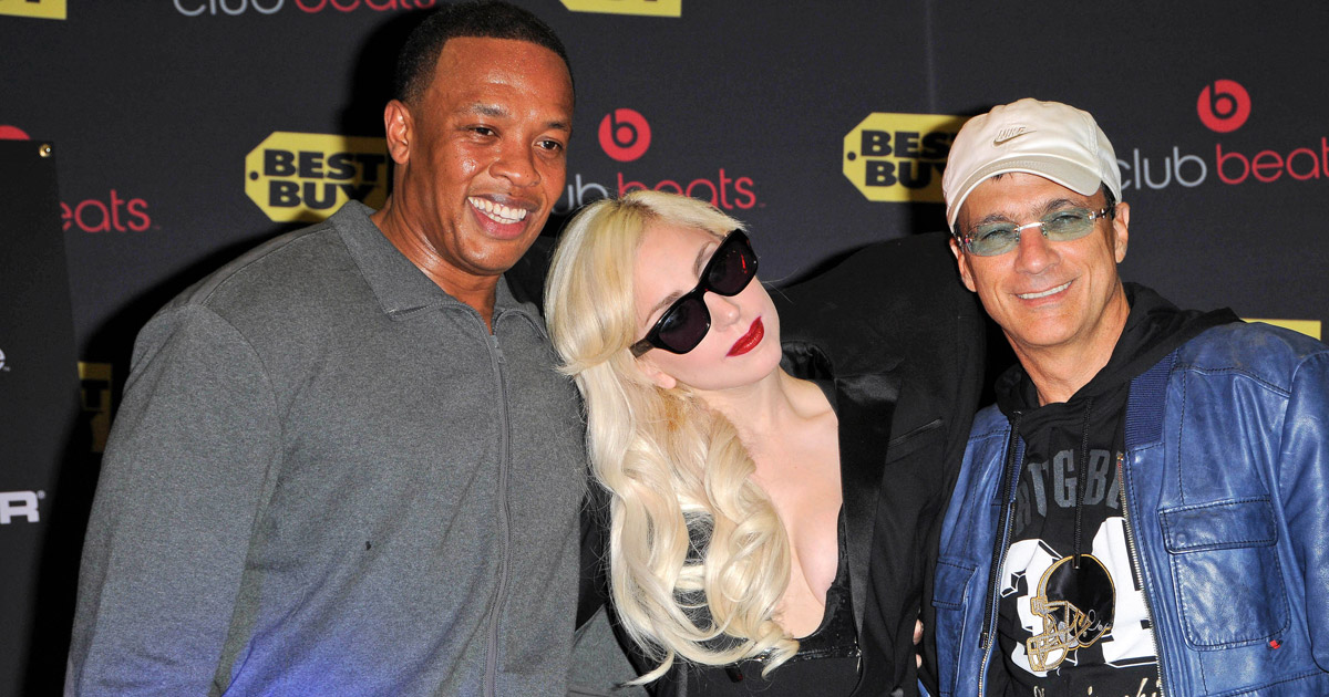 Dr. Dre, Lady Gaga, Jimmy Iovine