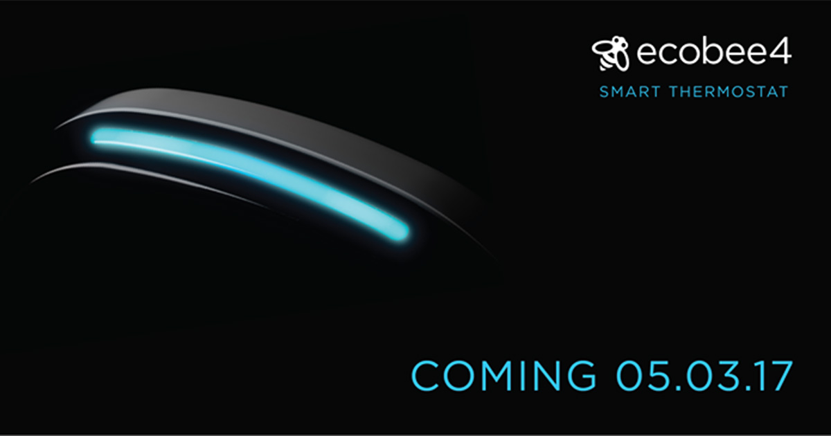 ecobee4 HomeKit Smart Thermostat Teased Ahead of May 5 Unveiling