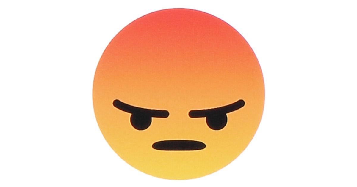 Angry Face Emoji Protestors at Facebook Annual Meeting