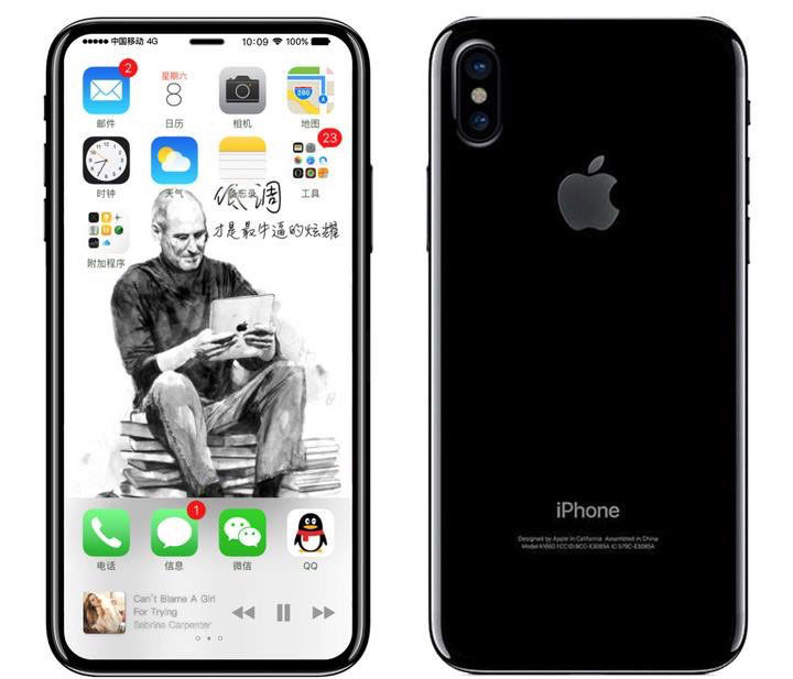 Leaked Home Screen and Back of iPhone X