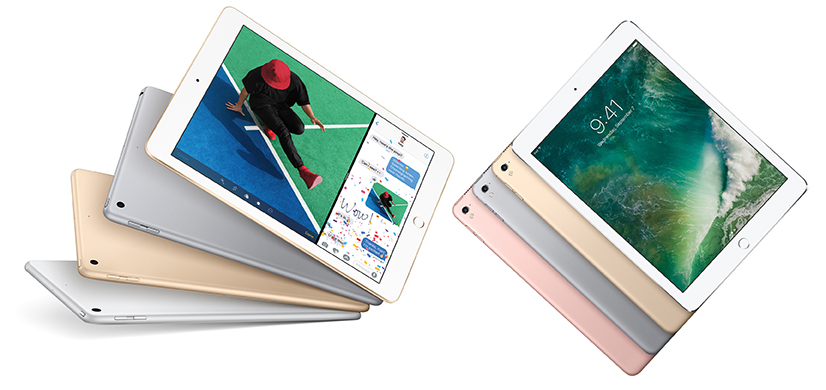 The new iPad (left) and 9.7-inch iPad Pro (right) are more alike than different.