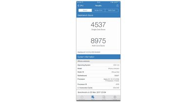 Geekbench test results show iPhone 8 outperforming Samsung Galaxy S8 smartphone