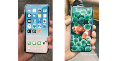 iPhone 8 rendering with Touch ID sensor and front-facing camera embedded in display