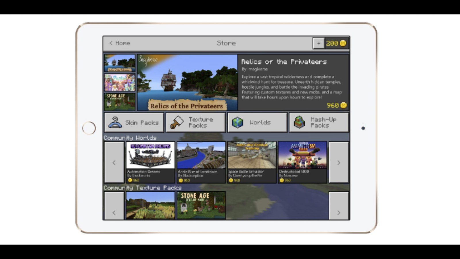 Microsoft Opens Minecraft Marketplace For In-App Purchases