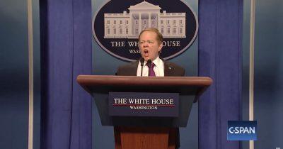 Melissa McCarthy as Sean Spicer on SNL