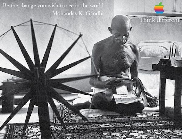 Gandhi in Think Different