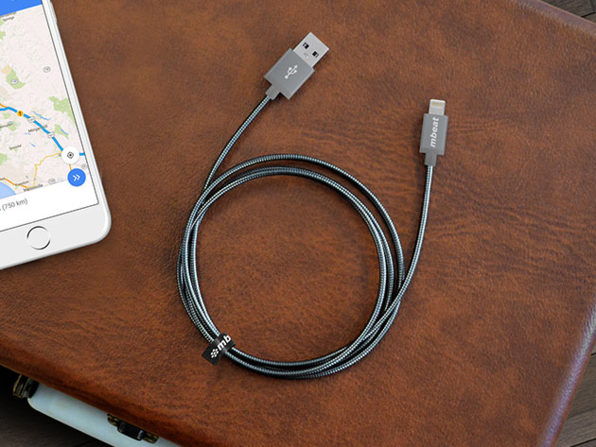 Toughlink MFi-Certified Metal Braided Lightning Cable 2-Pack: $29.99