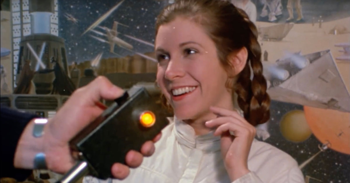 Screenshot from a Tribute to Carrie Fisher