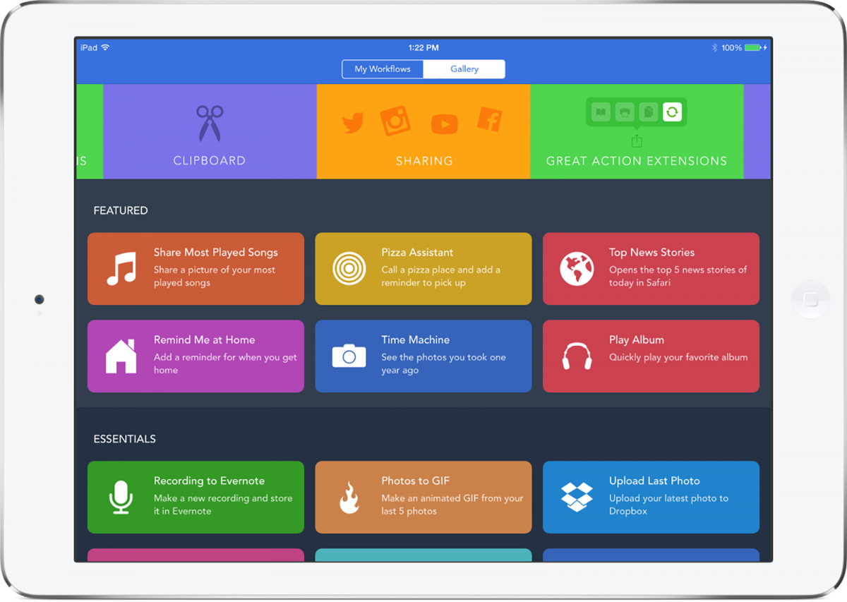 workflow app refund on ipad
