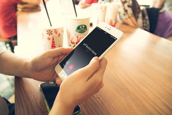 Alexa Calling feature screen in a call