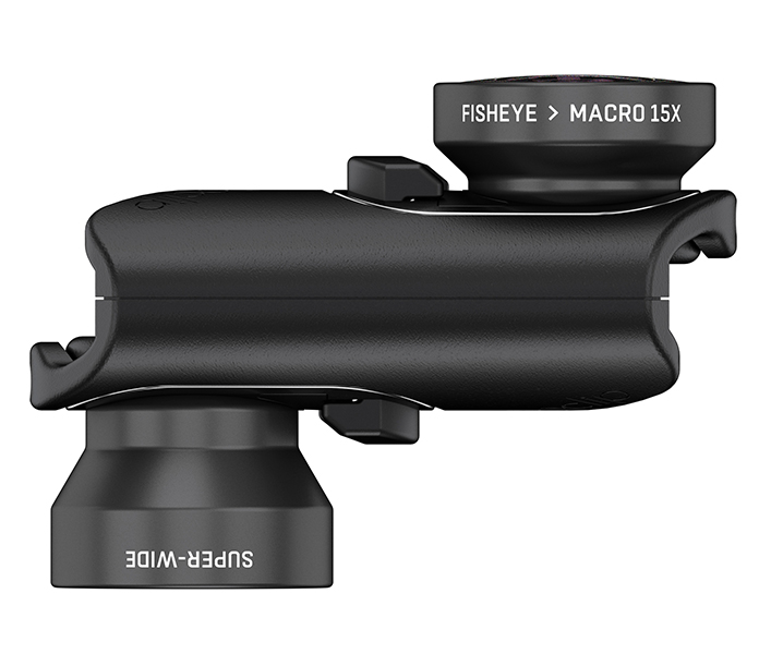 This Core Lens set includes a fisheye, a super-wideangle, and a 15x macro lens.