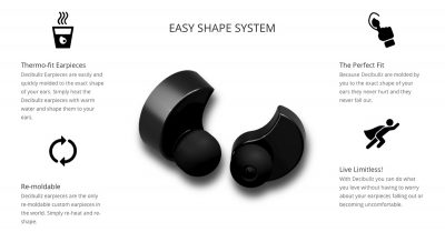 Decibullz Custom Fit Bluetooth Wireless Earphones are great for otherwise hard-to-fit ears.