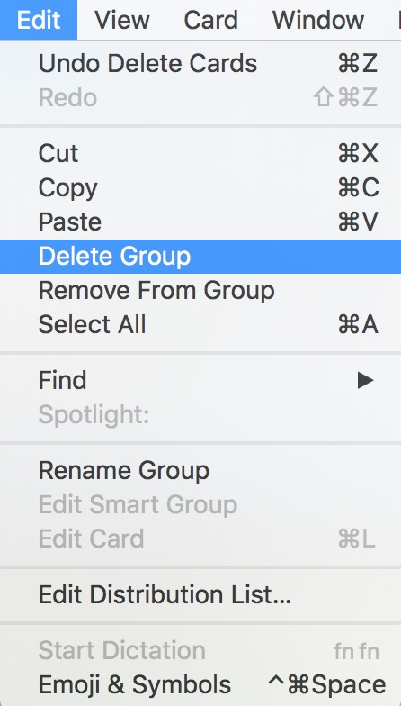 Select the group that held the now archived contacts and choose Edit > Delete Group