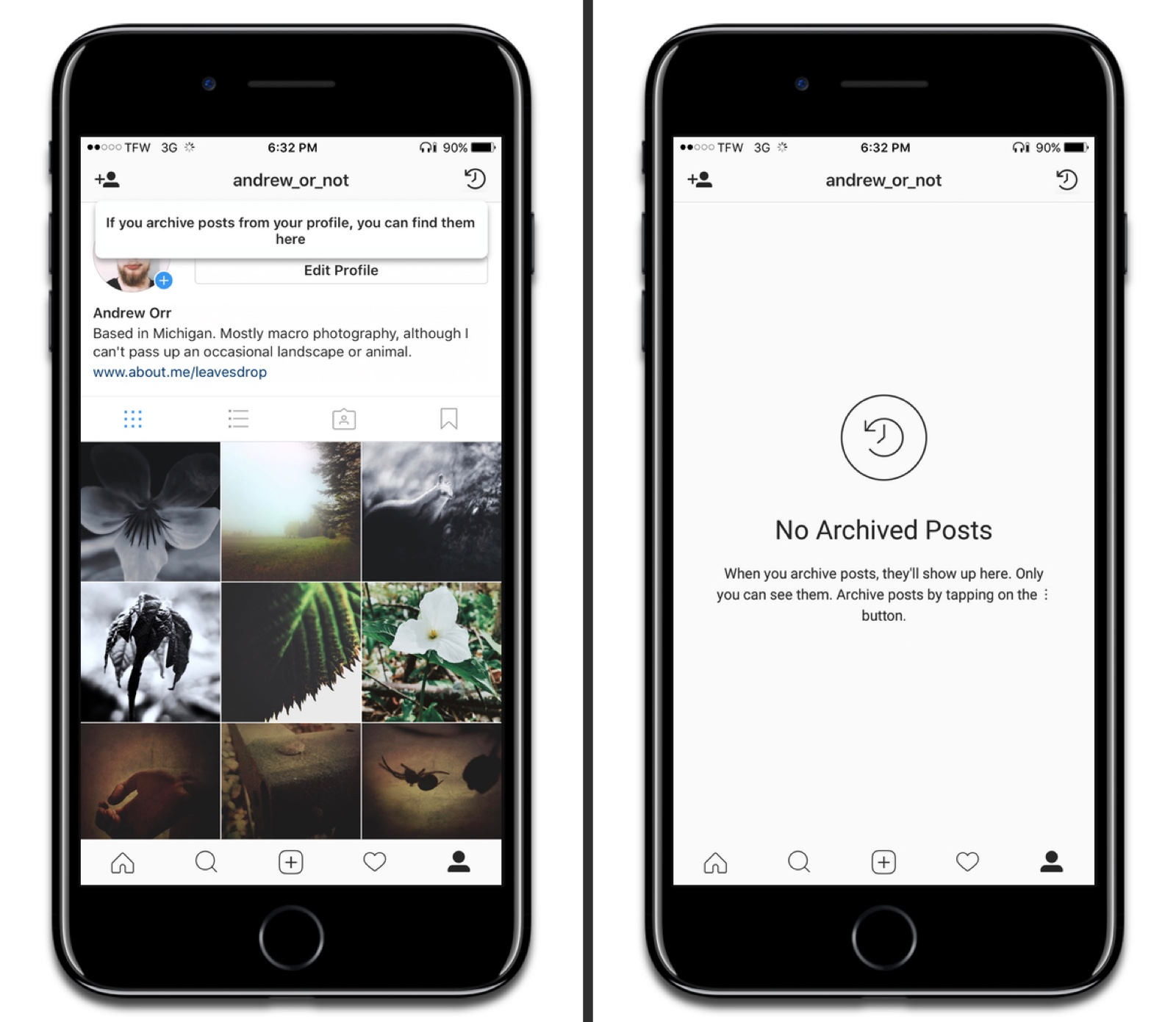 Instagram Archive To Hide Photos