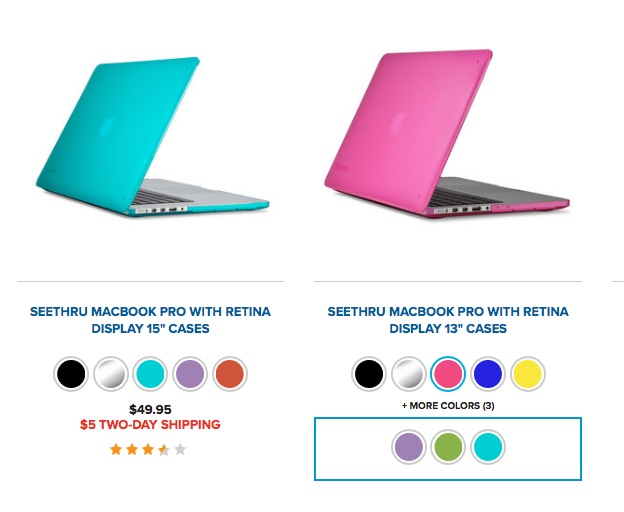 Speck Seethru cases protect your notebook from dings and scratches.