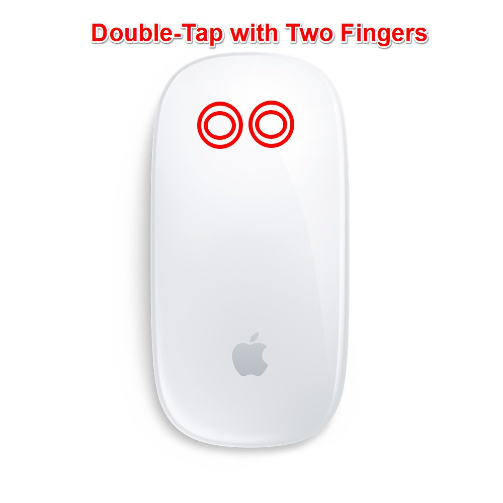 Magic Mouse Mac Gestures - Mission Control