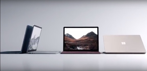 The new Microsoft Surface Laptop.