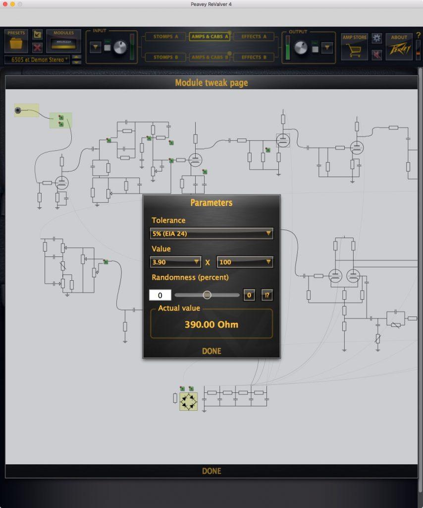 Geek heaven: You can tweak individual components in every tube amp model!