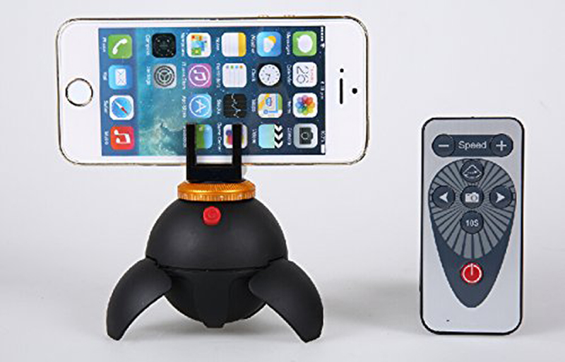 The Polaroid EyeBall rotates your iPhone (or other camera) smoothly via remote control.