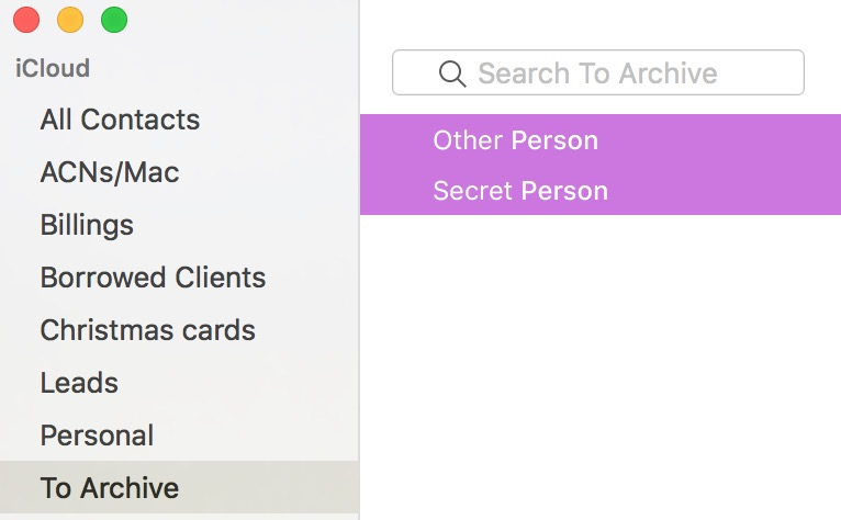 Don't forget to delete the contacts you just archived from the Contacts all
