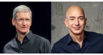 Tim Cook and Jeff Bezos.