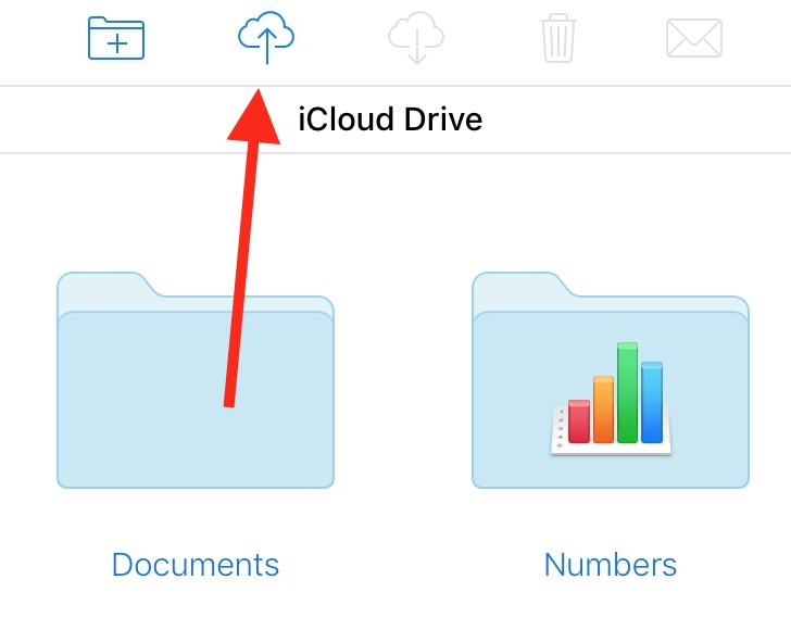 The iCloud Drive Upload Button lets you choose which files to upload to your account