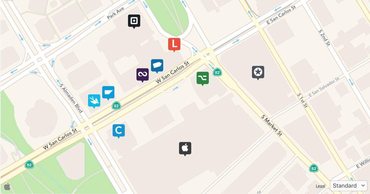 "Apple Maps view ""Beyond WWDC"""